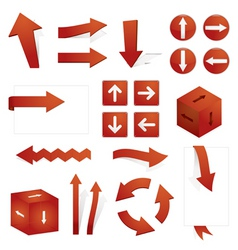 directional arrows vector image vector image
