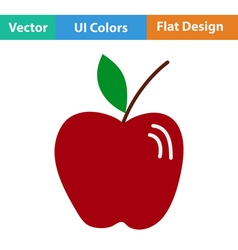 Flat design icon of apple vector
