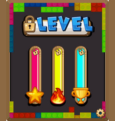 Game template with level bars vector
