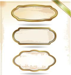 Gold frames in vintage style vector image
