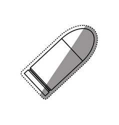 isolated bullet gun vector image