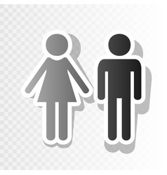 Male and female sign new year blackish vector