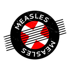 Measles rubber stamp vector