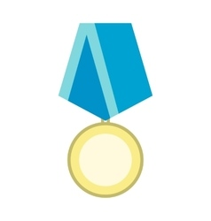 Medal military flat icon vector