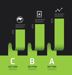 Modern infographics design options banner vector image vector image