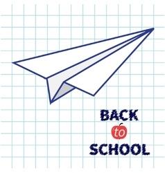 Origami paper plane handdrawn doodle paper sheet vector