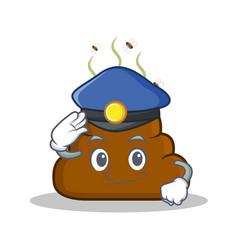 Police poop emoticon character cartoon vector