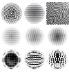 Radial patterns vector image vector image