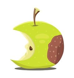 Rotten apple vector