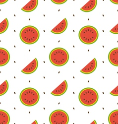 Seamless Pattern with Slices and Seeds Of vector image vector image