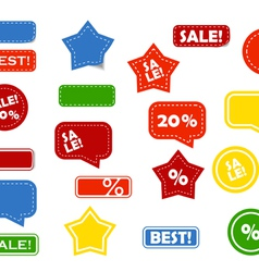 shop stickers vector image vector image