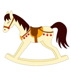 Toy rocking horse vector