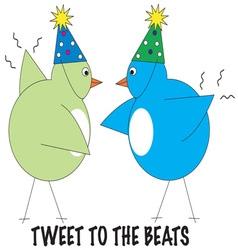 Tweet to the beats vector