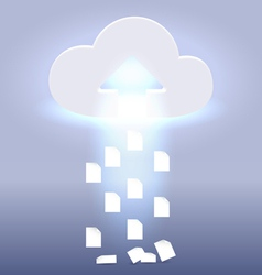 Uploading active cloud process vector image vector image