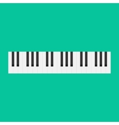 Piano keys isolated musical vector image