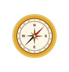Compass antique retro style isolated vector image