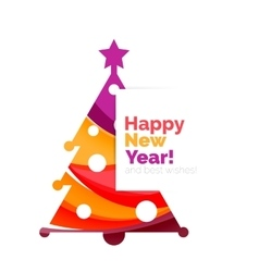 New Year and Christmas holiday elements vector image