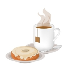 Isolated donut and coffee mug design vector