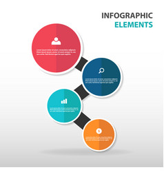 Abstract circle business infographics elements vector