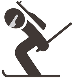 Biathlon icon vector