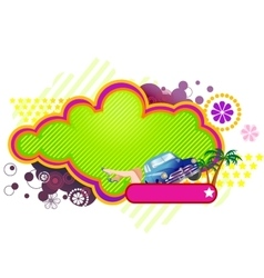 Stylish summer banner vector