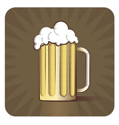 Beer engraved vector