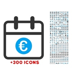 Euro day icon vector