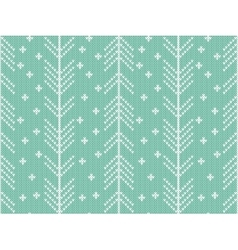 Seamless knitted pattern with winter ornament vector