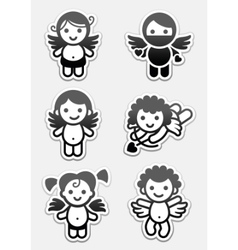 Cupids and angels vector