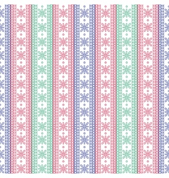 Pattern with blue red green lines on the white bac vector