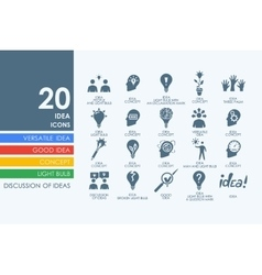Set of idea icons vector