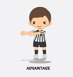 Soccer advantage signal vector