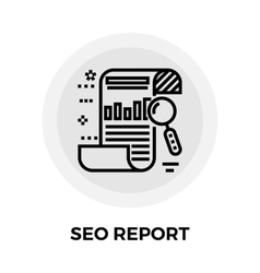 Seo report line icon vector