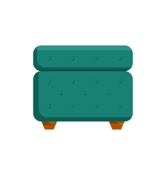 Turquoise pouf furniture icon cartoon style vector