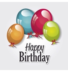 Happy birthday balloons isolated icon design vector