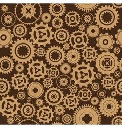 Background metallic with gears vector
