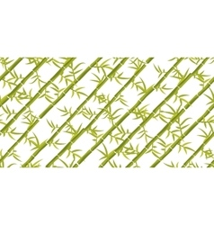 Bamboo seamless diagonal pattern vector