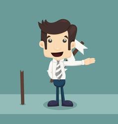 Businessman choice vector image