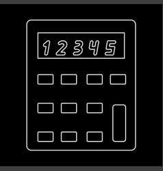 calculator the white path icon vector image