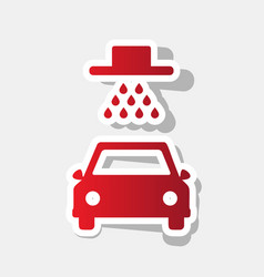 Car wash sign new year reddish icon with vector