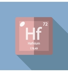 Chemical element hafnium flat vector