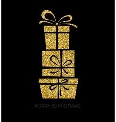 Gift box Christmas card vector image