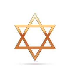 Gold star of david icon on white background vector