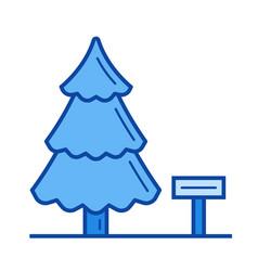 Landscape design line icon vector