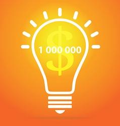 Light bulb - idea concept vector image