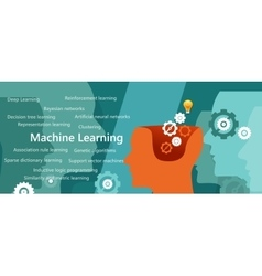 Machine learning algorithm concept with related vector
