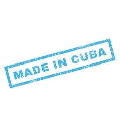 Made in cuba rubber stamp vector
