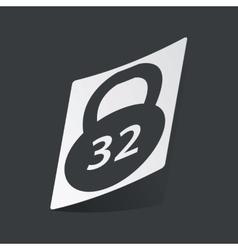 Monochrome dumbbell sticker vector