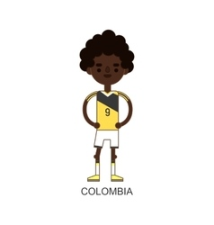National colombia soccer football player vector