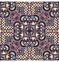 Ornamental floral paisley bandanna vector